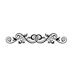 Vintage calligraphic swirl - floral wicker vector