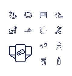 13 baby icons vector
