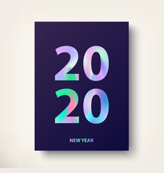 2020 new year card greeting card modern covers vector image