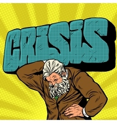 Antique atlas strong crisis man businessman vector