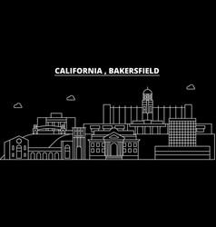 Bakersfield silhouette skyline usa - bakersfield vector