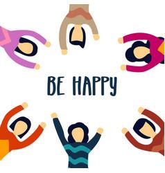 Be happy template design vector