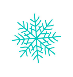 Big blue snowflake poster on vector