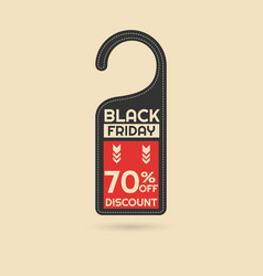 black friday discount card vector image