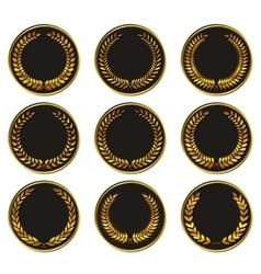 black medal vector image