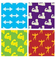 bodybuilder fitness design seamless pattern gym vector image