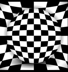Checkered composition - sphere over distorted vector