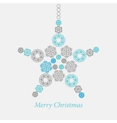 Christmas ornaments made from snowflakes vector