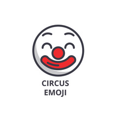 circus emoji line icon sign vector image