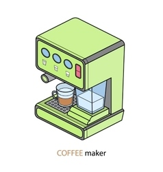 coffee machine isometric vector image
