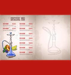 color menu design vector image