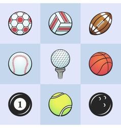 Colored sport balls vector