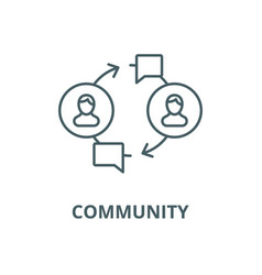 community line icon community outline vector image