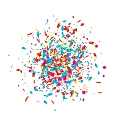 Confetti background for holidays party vector