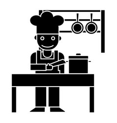 Cooker - shef - kitchen restaurant icon vector