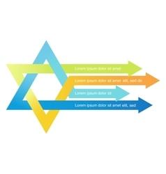 Crossed arrows creating david star vector