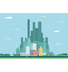 Day Urban Landscape City Real Estate Summer vector image