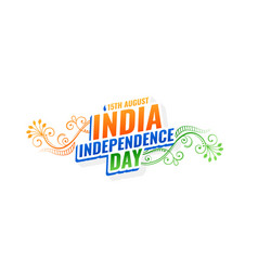 Decorative india independence day background vector