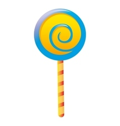 delicious candy lollipop sweet vector image