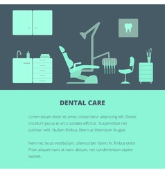 Dental care template vector