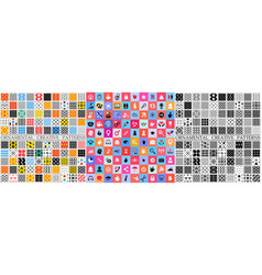 digital color geometric universal patterns vector image