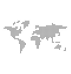 dotted world map simple flat vector image