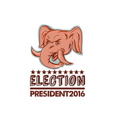 Election President 2016 Republican Elephant Mascot vector image