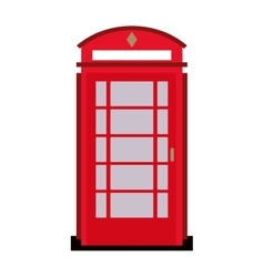 English phone booth icon vector