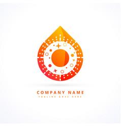 flame logo design concept vector image