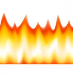 flaming vector image