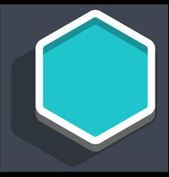 flat blank hexagon web internet button vector image