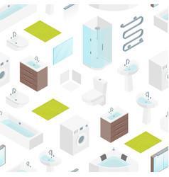 furniture bathroom interior seamless pattern vector image