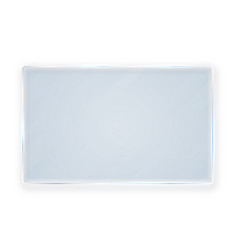 Glass plates set glass banners on white vector