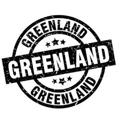 Greenland black round grunge stamp vector