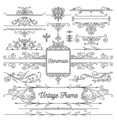 hand drawn frame decorations vector image
