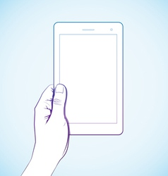 Hand Holding Tablet vector image
