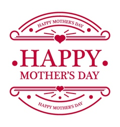 Happy Mothers Day Emblem vector image