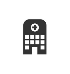 hospital icon design template isolated vector image