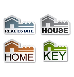 House key real estate stickers vector
