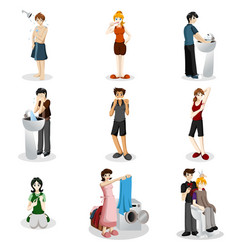 Hygienic people vector