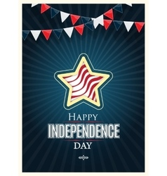 Independence day American signs with flag stripes vector