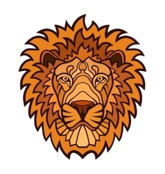 Lion head color mascot vector image