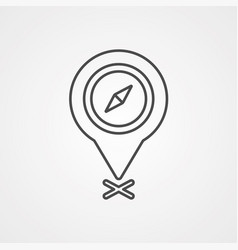 location pin icon sign symbol vector image