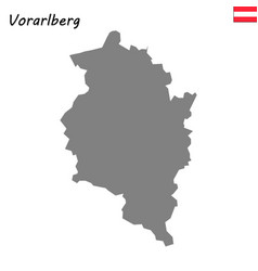 map state of austria vector image