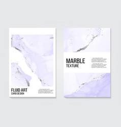 marble alcohol ink splash card watercolor tender vector image