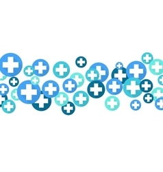 Medical background Blue crosses vector image