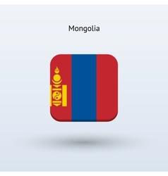 Mongolia flag icon vector