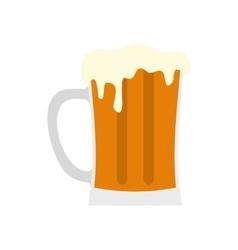 Mug of beer icon flat style vector