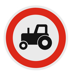 no tractor icon flat style vector image