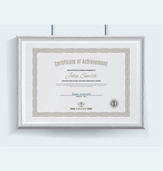 official grey certificate with brown vector image